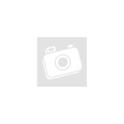 Szálcsiszolt, matt tungsten Női karikagyűrű belül 18K arannyal bevonva, cirkónia kristállyal díszítve KG-WT-V308W